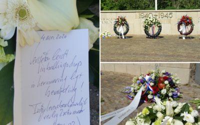 Bloemen namens het ILOZ op 4 mei