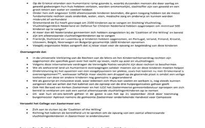 Motie vluchtelingenkinderen in Zoetermeer aangenomen
