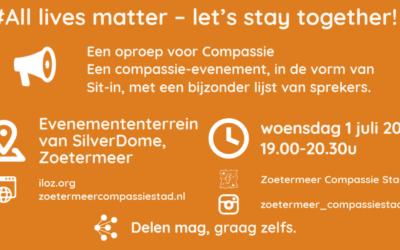 Evenemententerrein van SilverDome Zoetermeer locatie voor: Een oproep voor Compassie: let's stay together!